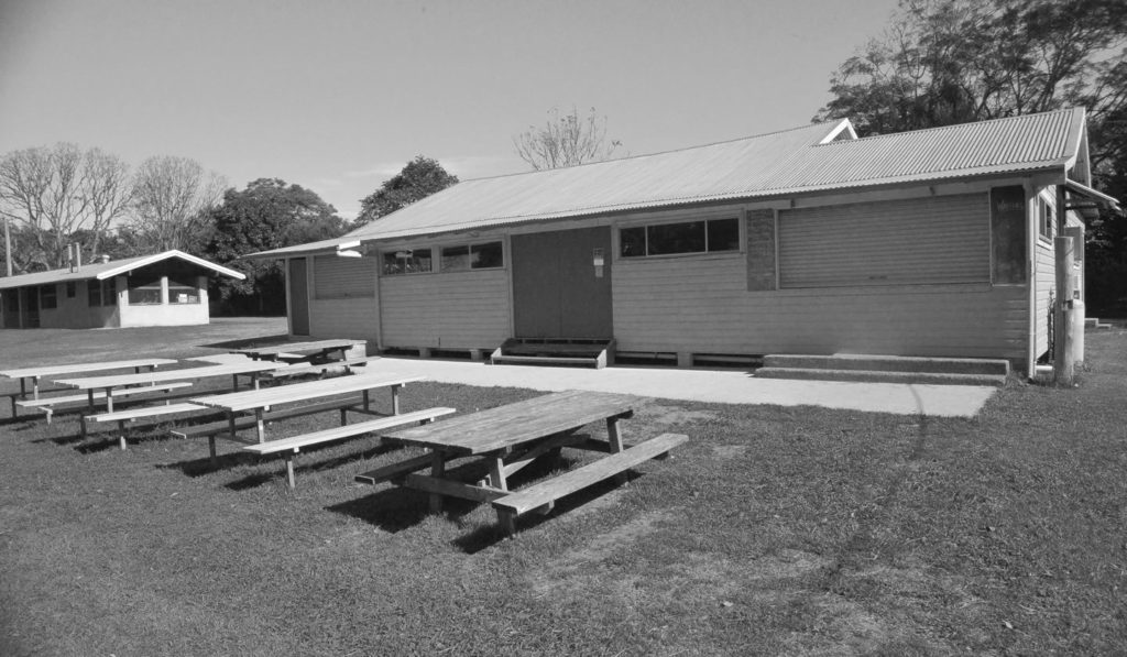 Luncheon Pavilion external table & Bar behind